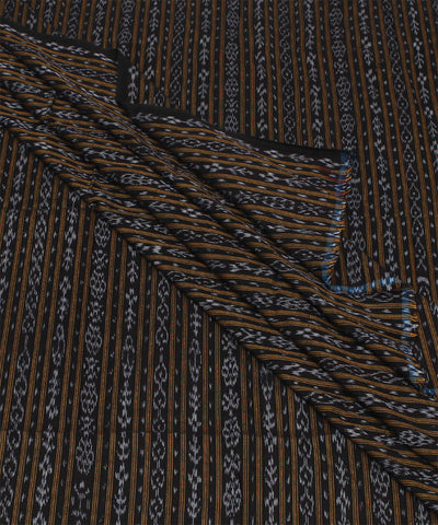 Black Stripe Nuapatna Handloom Fabric