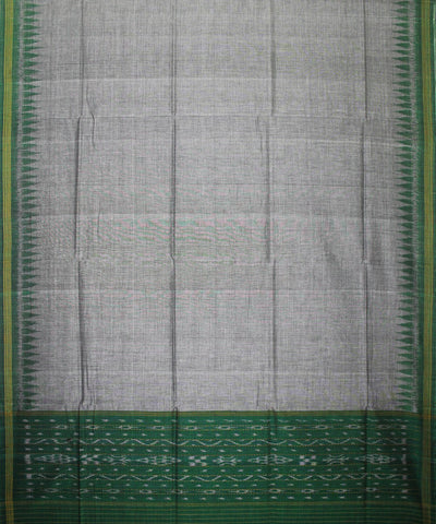 Handwoven Sambalpuri Ikat Cotton Unstitched Salwar Suit in Green and Grey