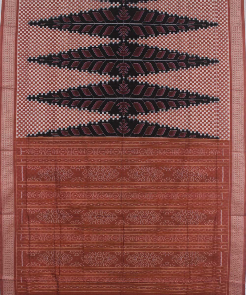 Black Deep Brown Handloom Sambalpuri Saree
