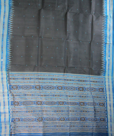 Nuapatna Black and Blue Khandua Silk Saree