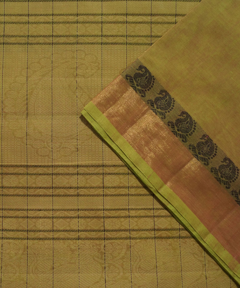 Thousand Butta Handloom Brown Kanchi Saree