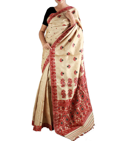 Pure Muga Assam Silk Saree