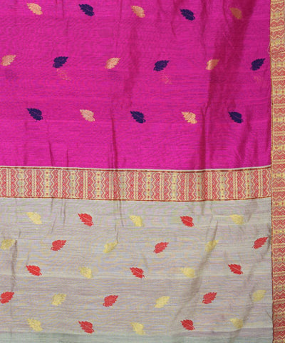 Pink and Beige Assam Cotton Saree