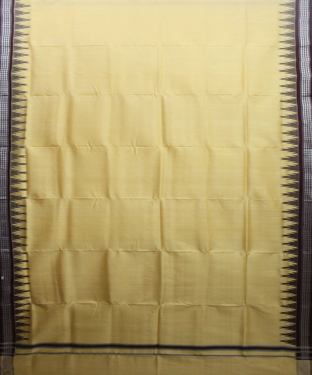 Handwoven Silk Joda of Berhampur in Cream and Coffee