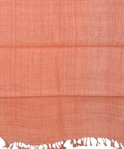 Light Orange Assam Handloom Eri Silk Stole