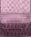Handwoven Lavender And Black Linen Saree