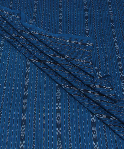 Dodger Blue Nuapatna Handloom Stripe Fabric