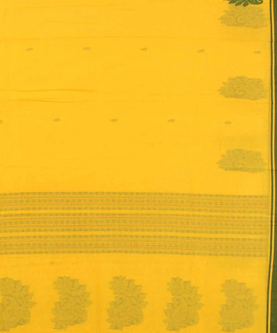 Bengal Handwoven Yellow Green Cotton Saree