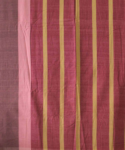 Handwoven Rosewood Cotton Saree