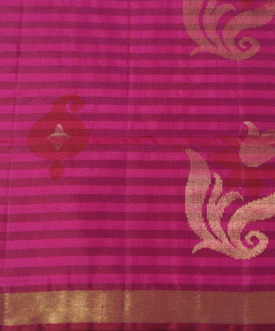 Pink and Maroon Handloom Soft Silk Saree