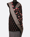Black Grey Handloom Ikat Cotton Dress Material