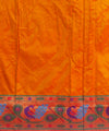 Banarasi Orange Silk Handloom Saree