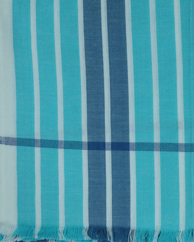 Sky Blue Handwoven Changai Cotton Towel