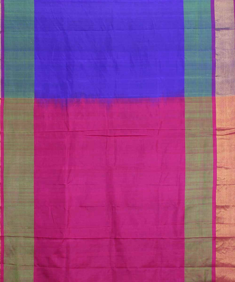 Purple Handwoven Uppada Silk Saree