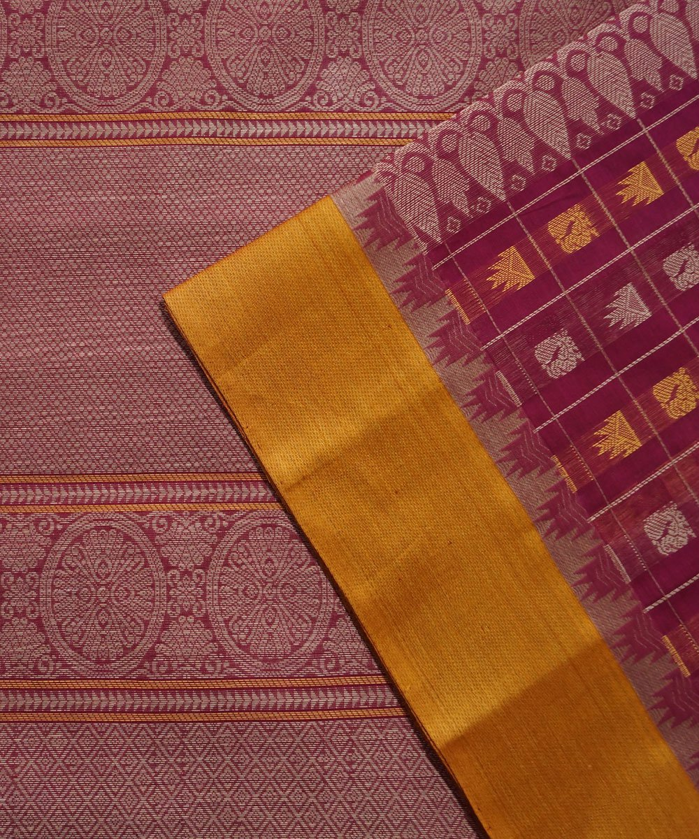 Thousand Butta Magenta Handloom Kanchi Saree