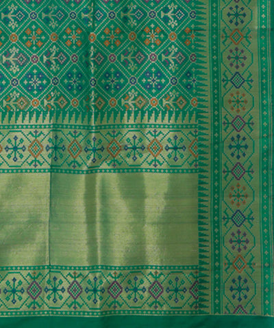Banarasi Dark Green Handloom Silk Saree