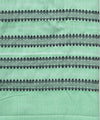 Handwoven Green Cotton Mekhela Chador