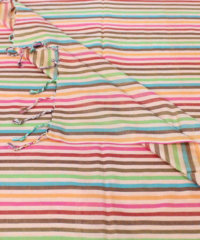 Multiple Color Stripe Handloom Eri Silk Stole