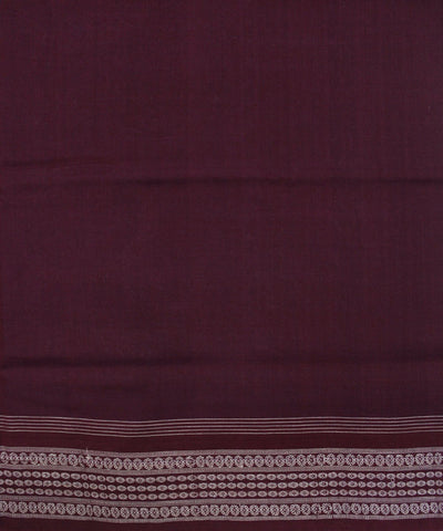 Handwoven Sambalpuri Ikat Cotton Saree in Offwhite and Maroon
