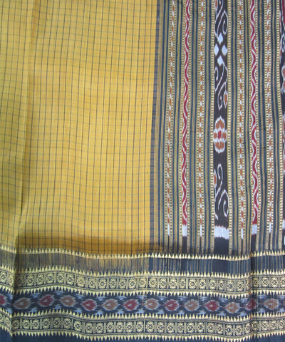 Nuapatna Yellow and Black Khandua Silk Saree