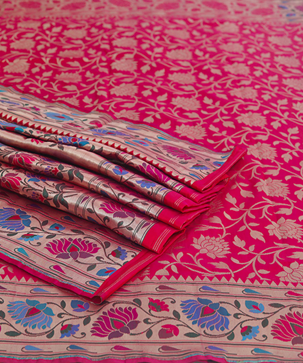 Red silk handloom banarasi saree