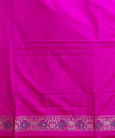 Banarasi Orange and Pink Handloom Silk Saree