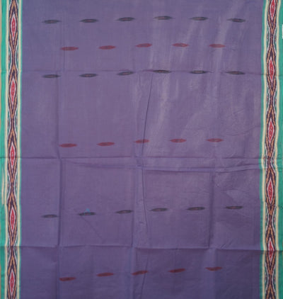 Pochampally Cotton Saree In Violet Color