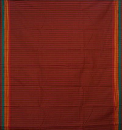 Dark Red  Handwoven Narayanapeta Cotton Saree
