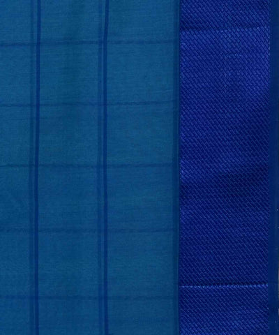Maheshwari Handloom Blue Checks Sico Saree