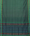 Multi Green Handloom Mangalagiri Cotton Saree