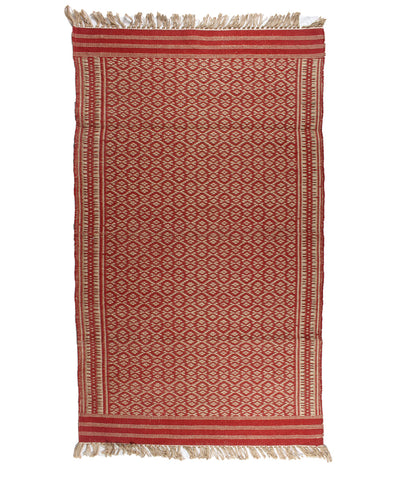 Handwoven Jute dhurrie in abstract Pattern