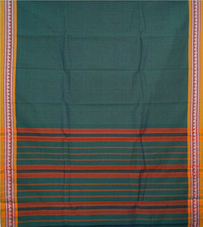Forest Green Handloom Narayanapet Cotton Saree