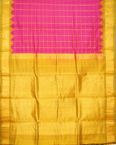 Handloom Pure Gadwal Silk Saree In Pink Shade