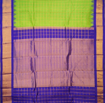 Handloom Pure Gadwal Silk Saree in Light Green Shade