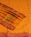 Golden Orange Bengal Handwoven Cotton Saree