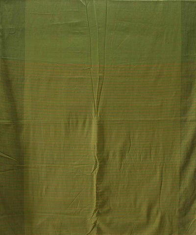Handwoven Moss Green Cotton Saree