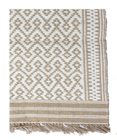 Handwoven Jute Cotton dhurrie in Geometric Pattern