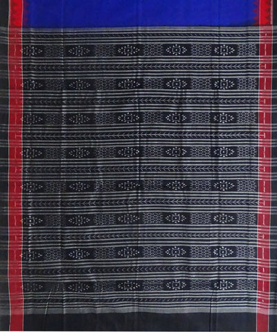 Dark Blue Cotton Sambalpuri Handloom Saree