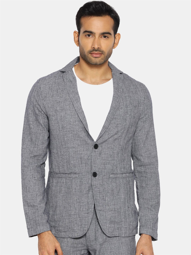 Grey Handloom Handspun Cotton Blazer