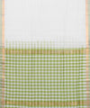 Green Check Handloom Mangalagiri Cotton Saree