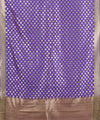 Purple Blue Banarasi Handwoven Dupatta