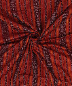Nuapatna Handloom Cotton Dark Maroon Fabric