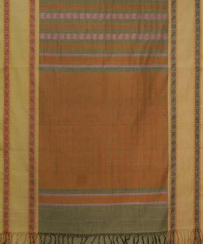 Thousand Butta Grey Handwoven Kanchi Saree