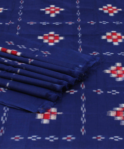 Pasapalli Handloom Blue Ikat Cotton Saree
