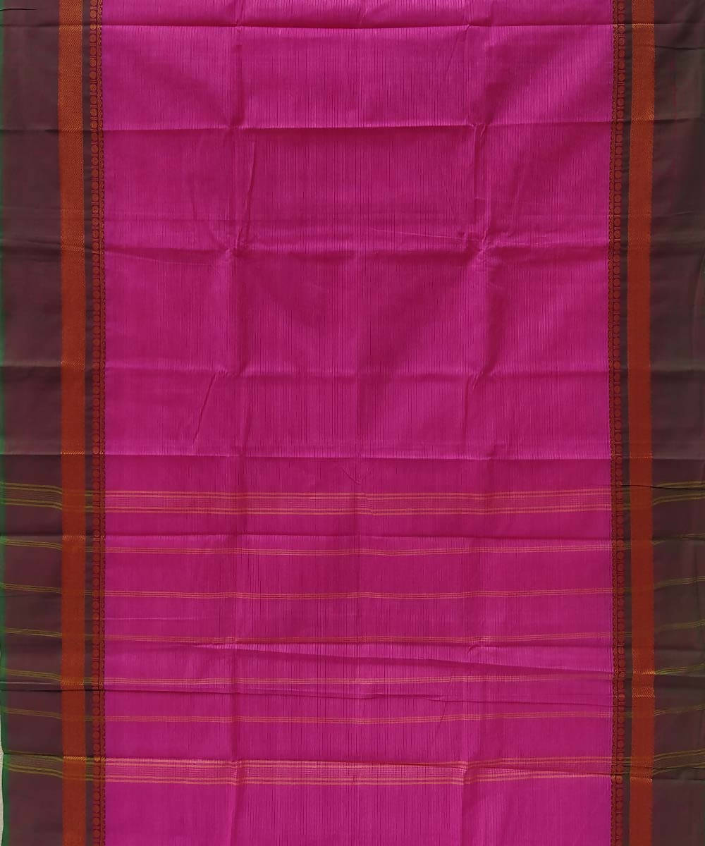 Pink handwoven tamil nadu cotton saree