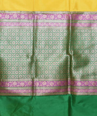 Banarasi Yellow Handwoven Silk Saree