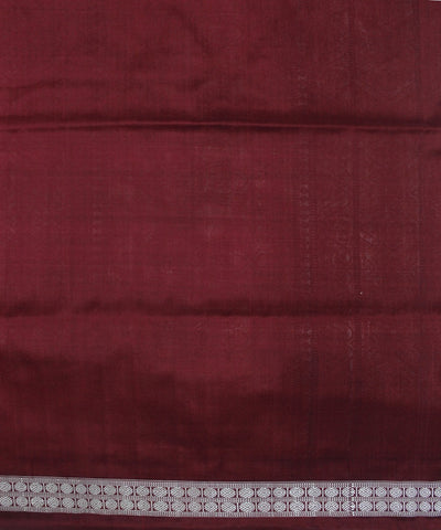 Handwoven Bomkai Silk Saree of Sonepur in Golden Yellow and Maroon