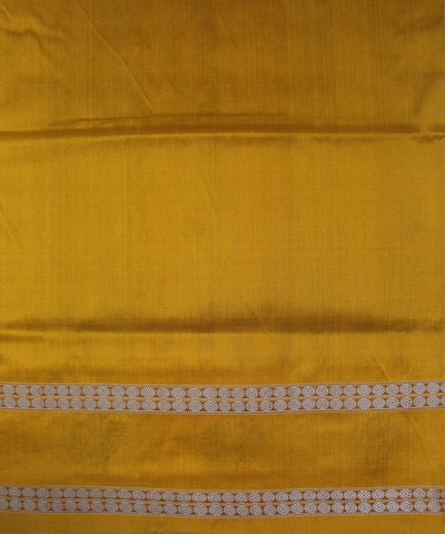 Handwoven Bomkai Silk Saree of Sonepur in Maroon and Yellow
