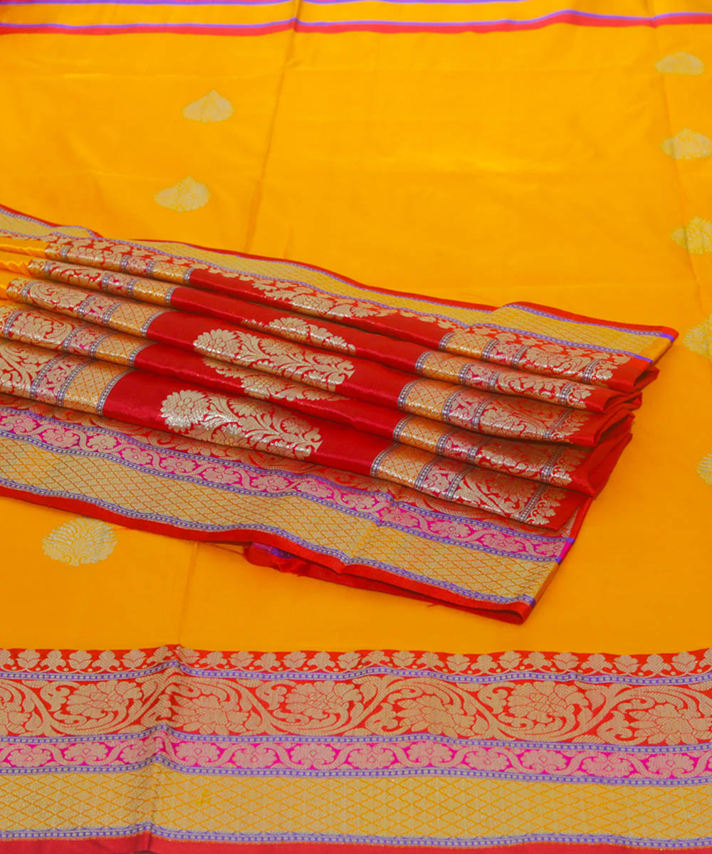 Banarasi Yellow Handloom Silk Saree