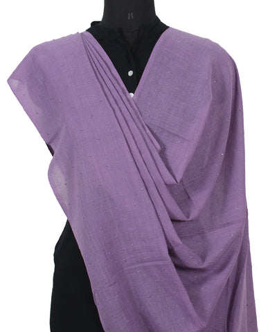 Handwoven Purple Blue Cotton Dupatta